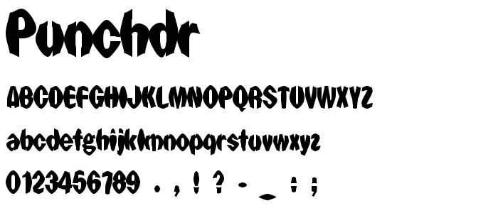 Punchdr font