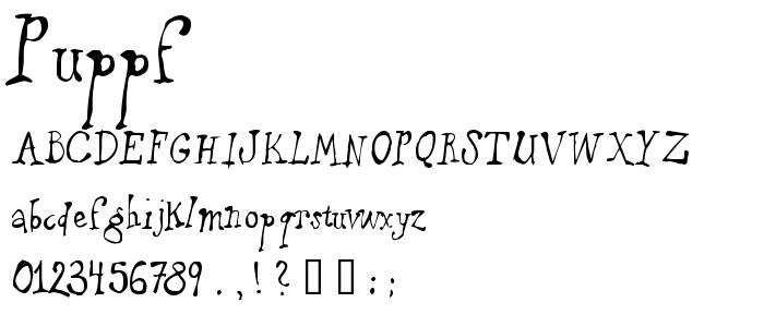 Puppf font