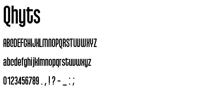 Qhyts font