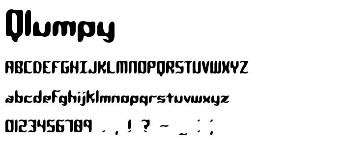 qlumpy.ttf font