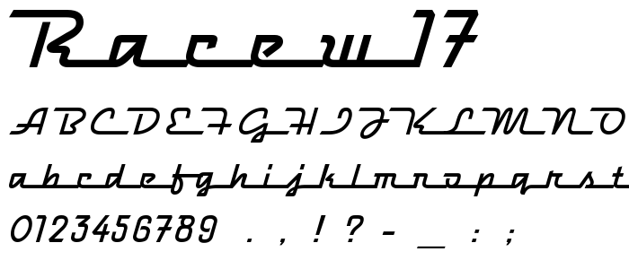 Racew17 font