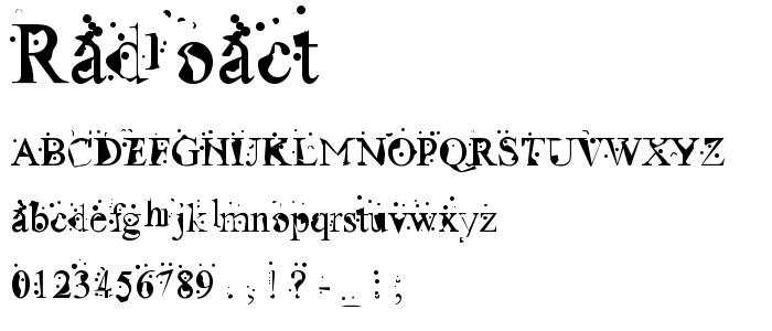 Radioact font