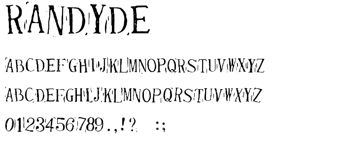 Randyde font
