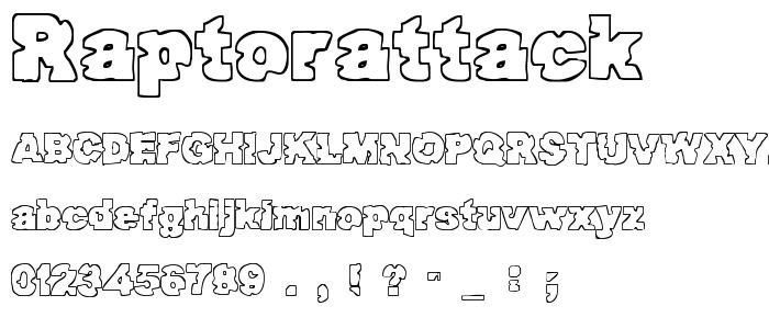 Raptorattack font