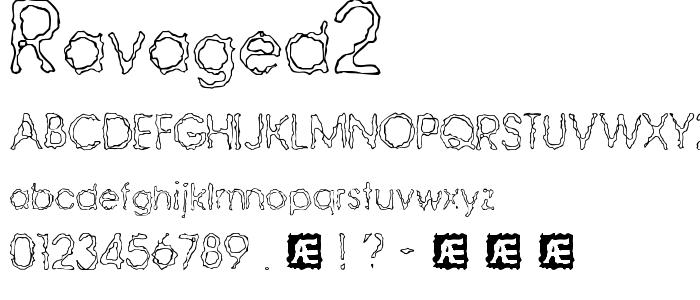 Ravaged2 font