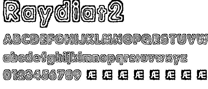 Raydiat2 font
