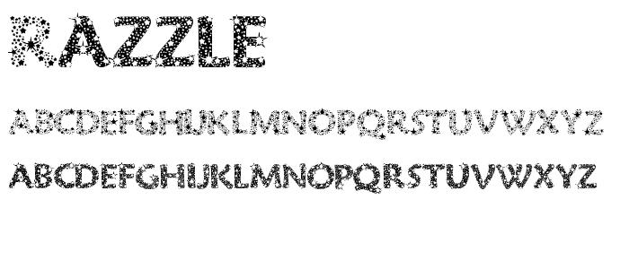 Razzle font