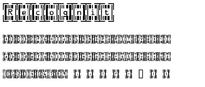 Recognit font