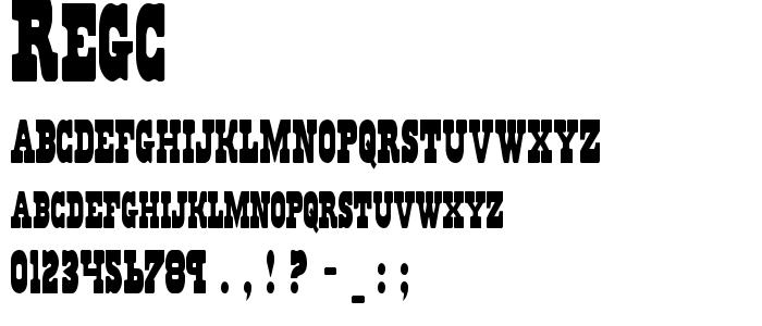 Regc font