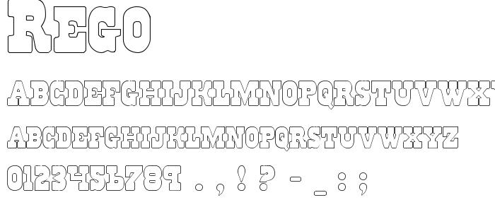 Rego font