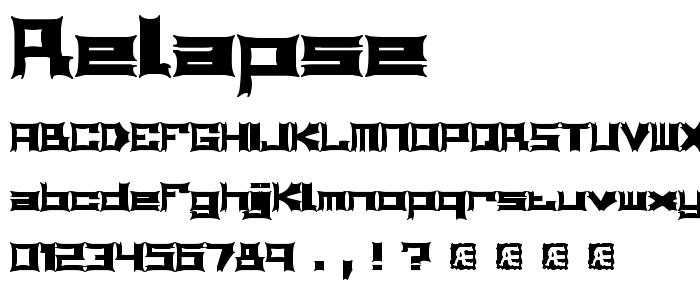 Relapse font