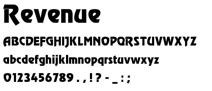 Revenue font