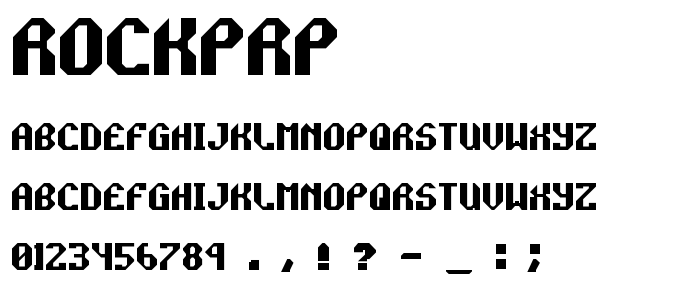 Rockprp font