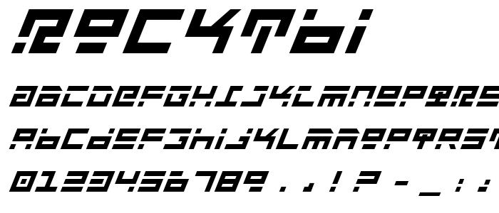 Rocktbi font