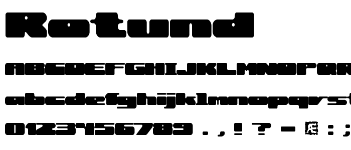 Rotund font