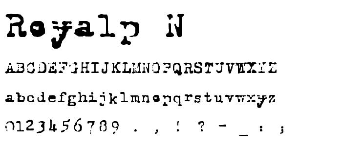 Royalp N font