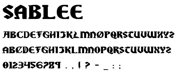 Sablee font