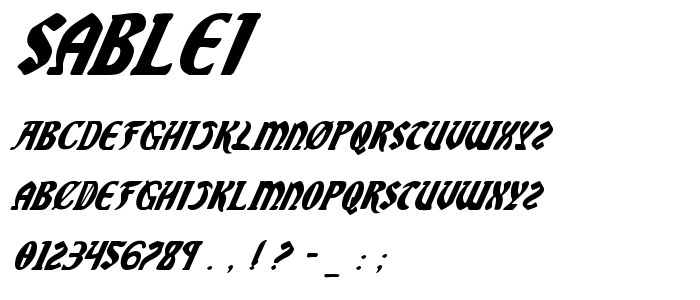 Sablei font