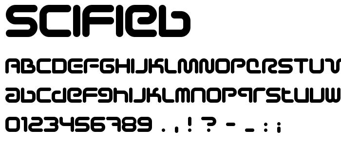 Scifieb font