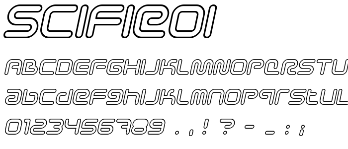 Scifieoi font