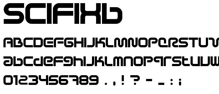 Scifixb font