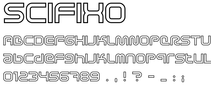 Scifixo font