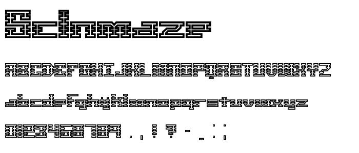 Sclnmaze font
