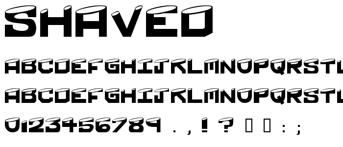 Shaved font