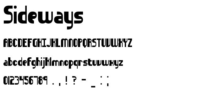 Sideways font