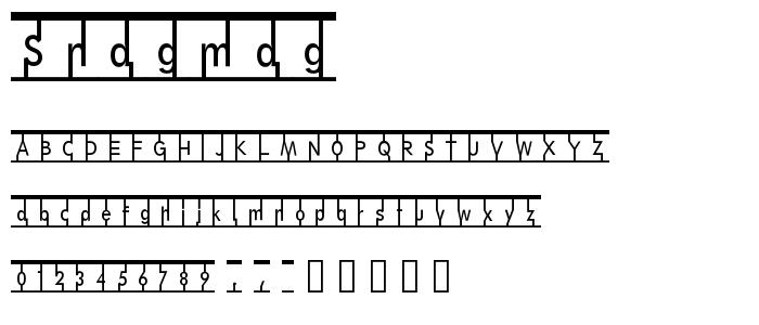 Snagmag font