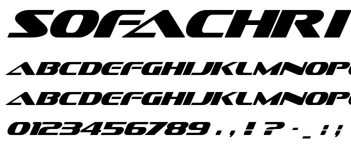 Sofachri font