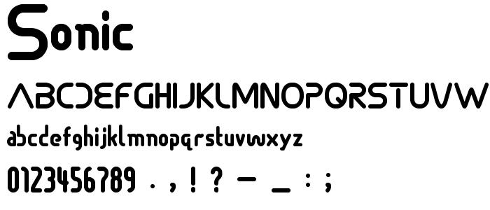 Sonic font