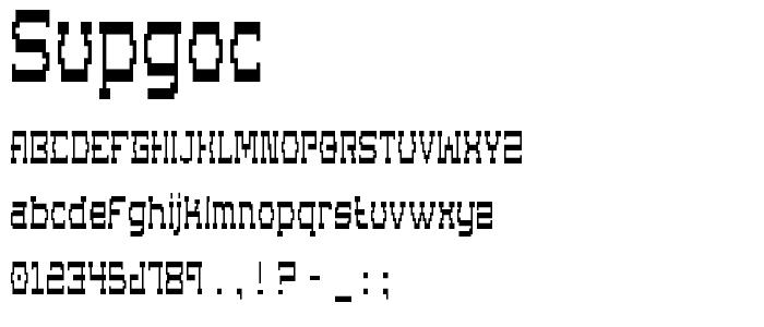 Supgoc font
