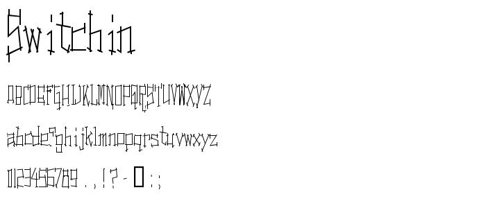 Switchin font