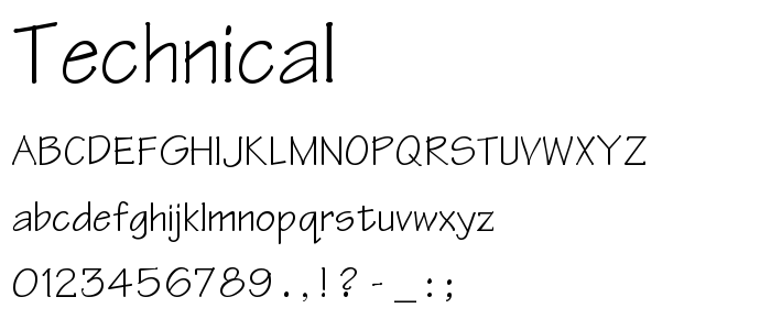Technical Free Font Download