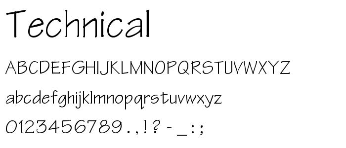 Technical font