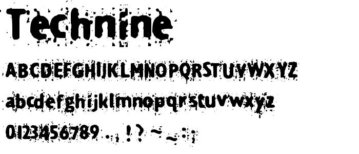 Technine font