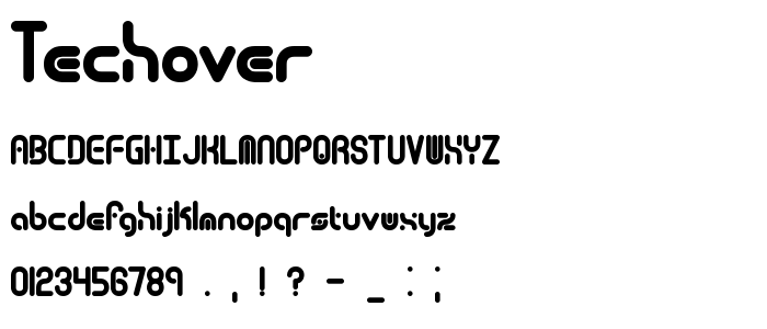 Techover font