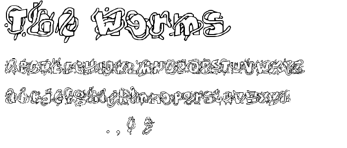 The Worms font