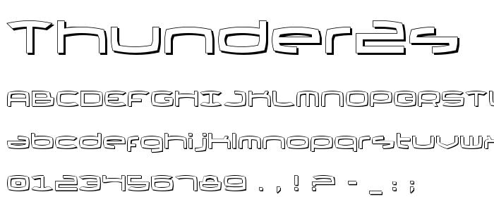 Thunder2s font