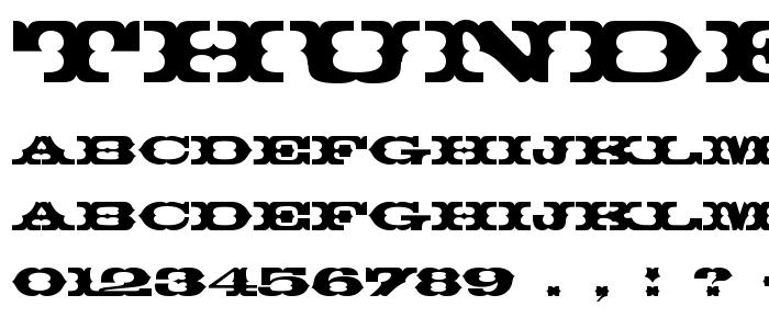 Thunderb font