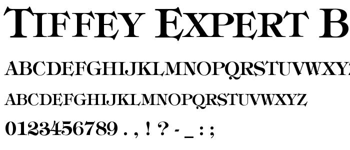 Tiffey Expert Bold font
