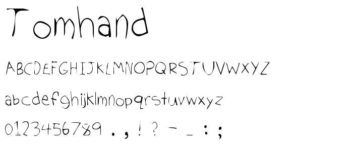 Tomhand font