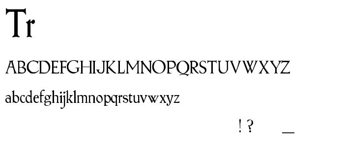 Tr font