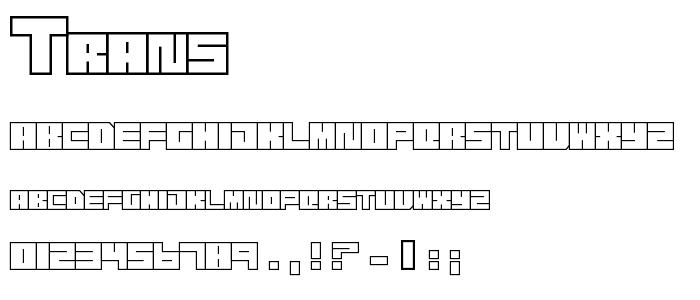 Trans font