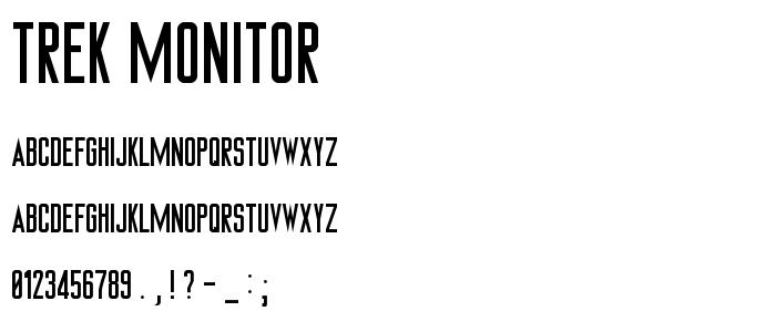 Trek Monitor font