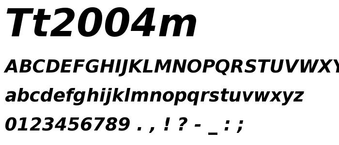 Tt2004m font