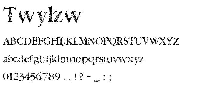 Twylzw font