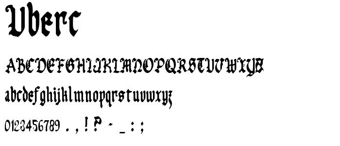 Uberc font