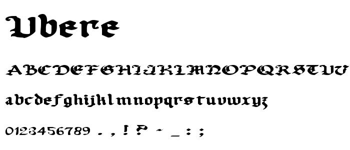 ubere.ttf font